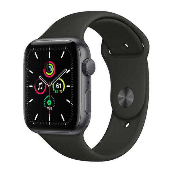 Apple Watch SE GPS 44mm Space Gray Aluminium Case with Black Sport Band (Copy)